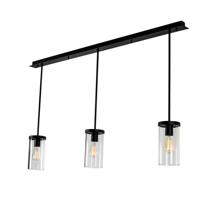 5072/.. - POLINA PENDEL 3, hanglamp met bolgewricht - stang inkortbaar - glas H250