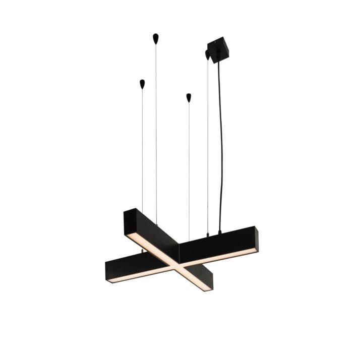 2986/.. - TIMES CROSS, lichtsysteem - met ophanging - wordt op maat gemaakt - met LED driver