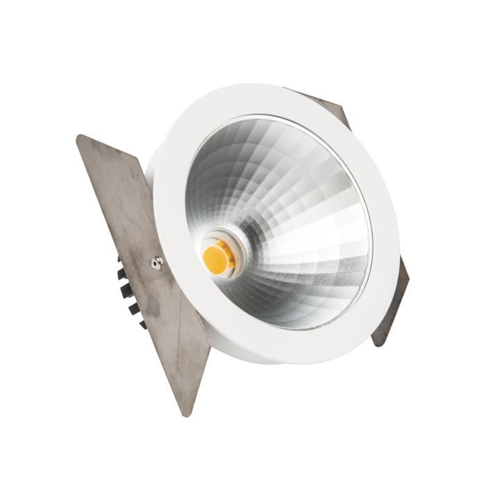 888.10021/.. - CITY, inbouwspot - rond - vast - dimbaar fase aan- en afsnijding - kit (led 230V + reflector + spot)