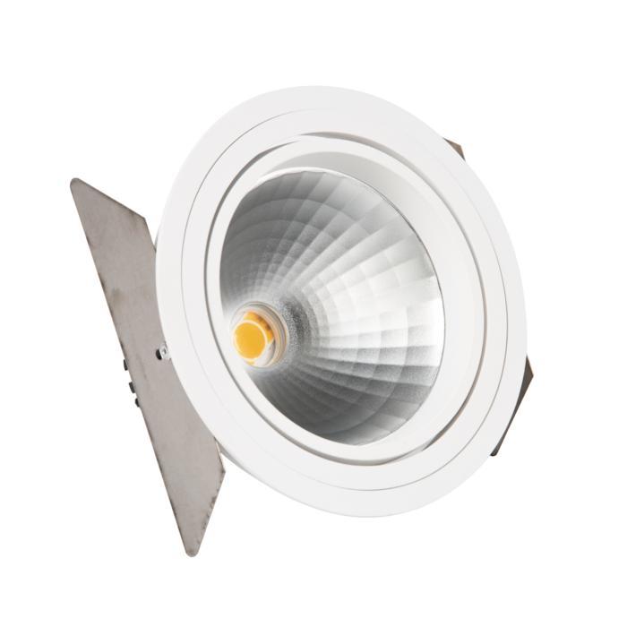 888.10022/.. - CITY, inbouwspot - rond - richtbaar - dimbaar fase aan- en afsnijding - kit (led 230V + reflector + spot)