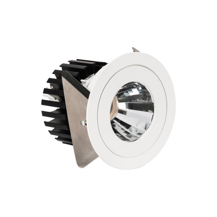 888.10010/.. - CITY, inbouwspot - rond - vast - dimbaar fase aan- en afsnijding - kit (led 230V + reflector + spot)