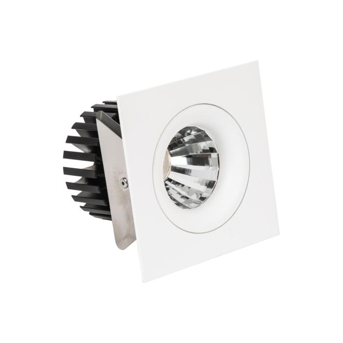 888.10015/.. - CITY, inbouwspot - vierkant - vast - dimbaar fase aan- en afsnijding - kit (led 230V + reflector + spot)