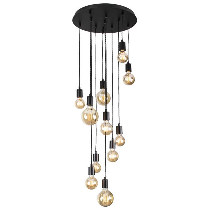 5065/.. - MAESTRO, hanglamp - met 10 x gedraaide kabel 1m en 1 x gedraaide kabel 2m