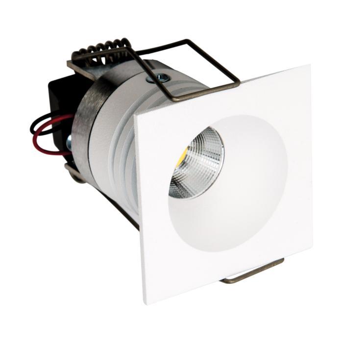 ZIALEDMCIP44.S1/.. - Ø40 ZIA LED M IP44, Decken- und Wandleuchte für Einbau - viereckig - fest - mit Led - ohne Driver LED