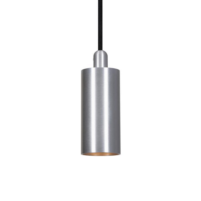 3987.M.TX/.. - JACOB M, hanglamp - met 2m textielkabel en trekontlasting aan fitting met lange huls - zonder LED driver