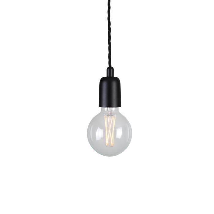 5003F.2/.. - MAESTRO, hanglamp - met 2m gedraaide textielkabel en trekontlasting aan fitting