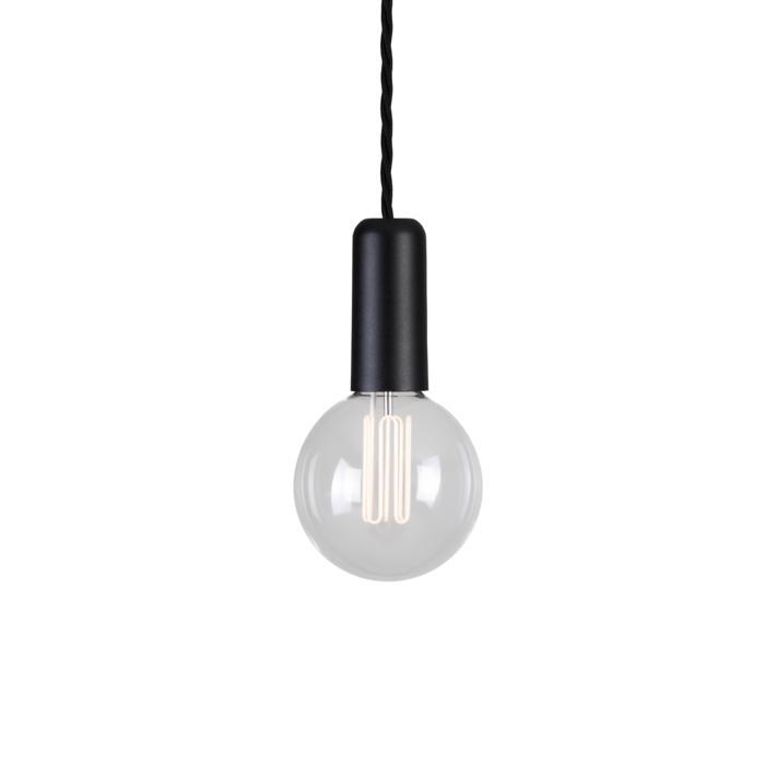 5003D.3/.. - MAESTRO CARET, hanglamp - met 3m gedraaide textielkabel en trekontlasting aan fitting