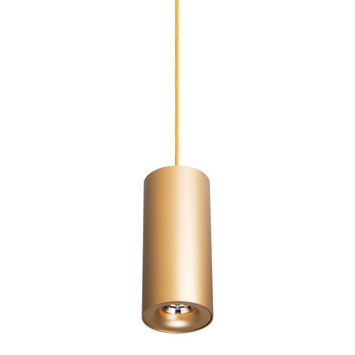 5227.200/.. - FLOU, hanglamp - rond - down - met 1,5m textielkabel en trekontlasting aan fitting