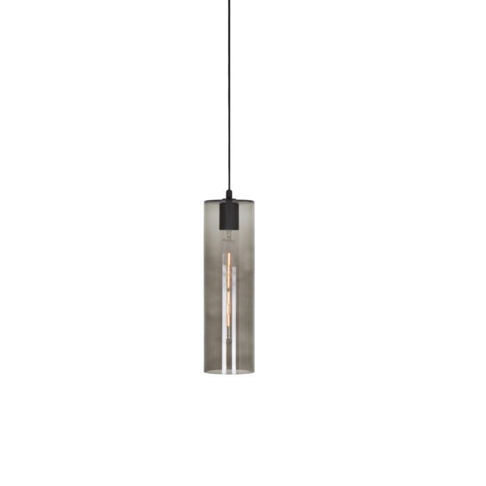 5092.H.E27/.. - MOBY GLASS, hanglamp - met 2m textielkabel en trekontlasting aan fitting met lange huls