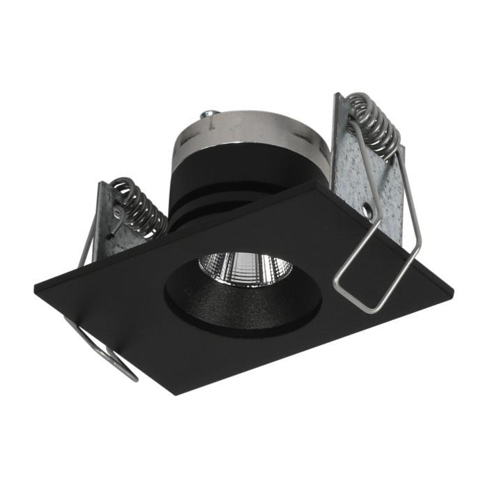 8361/.. - STELLA IN, inbouwspot - vierkant - vast - met ronde Zia Led - zonder LED driver