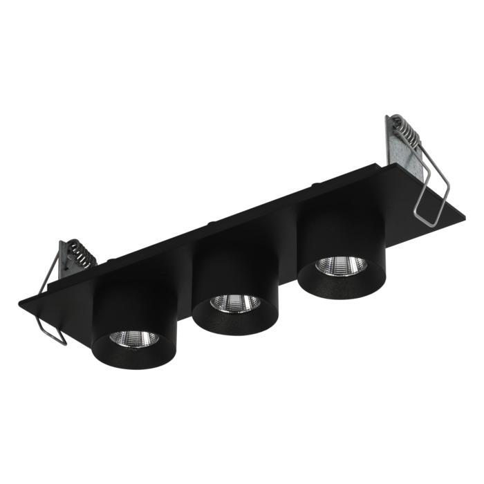 8367/.. - STELLA IN, half in- en opbouw spot - vierkant - vast - met ronde Zia Led - zonder LED driver