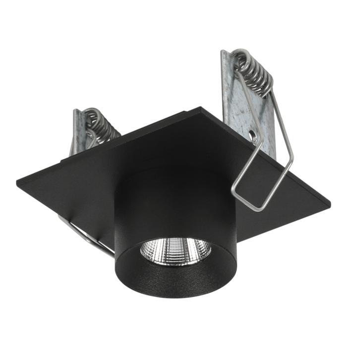 8352/.. - STELLA IN, half in- en opbouw spot - vierkant - vast - met ronde Zia Led - zonder LED driver