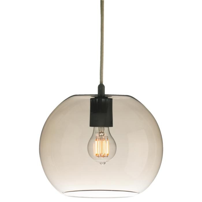5093/.. - MOBY BRONZ, pendant - with 2m textile cable and strain relief on lampholder's side