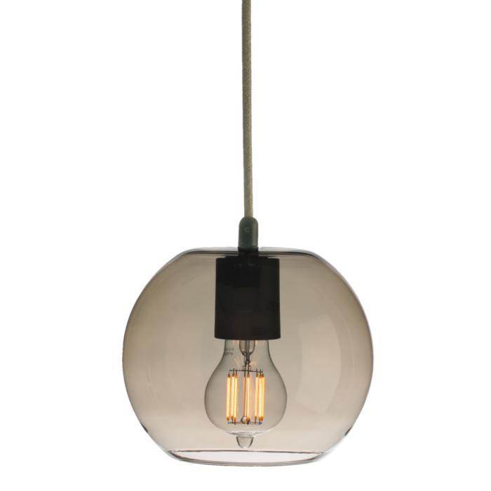 5094/.. - MOBY BRONZ, hanglamp - met 2m textielkabel en trekontlasting aan fitting