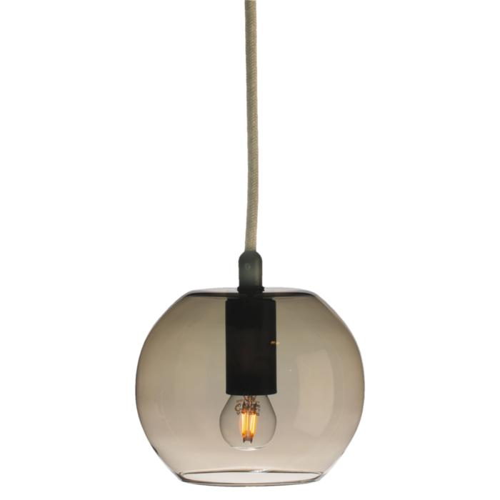5095.E27/.. - MOBY BRONZ, suspension with textile cable - with 2m textile cable and strain relief on lampholder's side