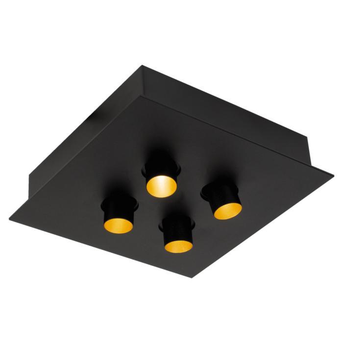 8345/.. - STELLA, opbouw plafondverlichting - richtbaar - met 4 ronde inbouwspots - met LED driver