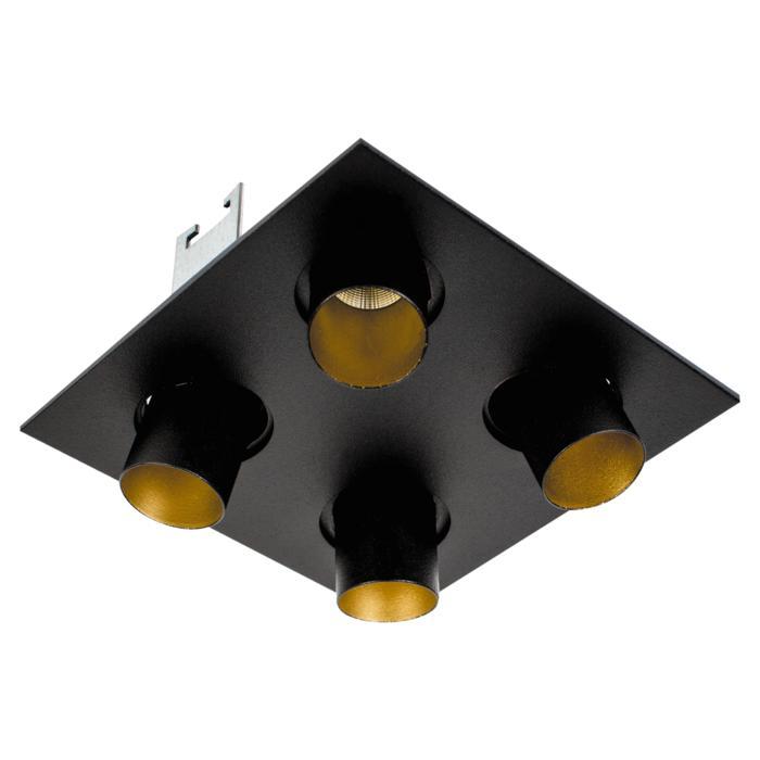 8380/.. - STELLA IN, half in- en opbouw spot - vierkant - richtbaar - met ronde Zia Led - zonder LED driver