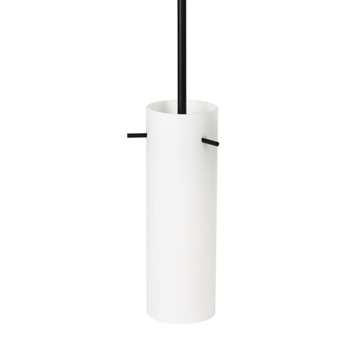 3901/.. - NOA large, hanglamp met bolgewricht - stang inkortbaar - cilinder opaal glas