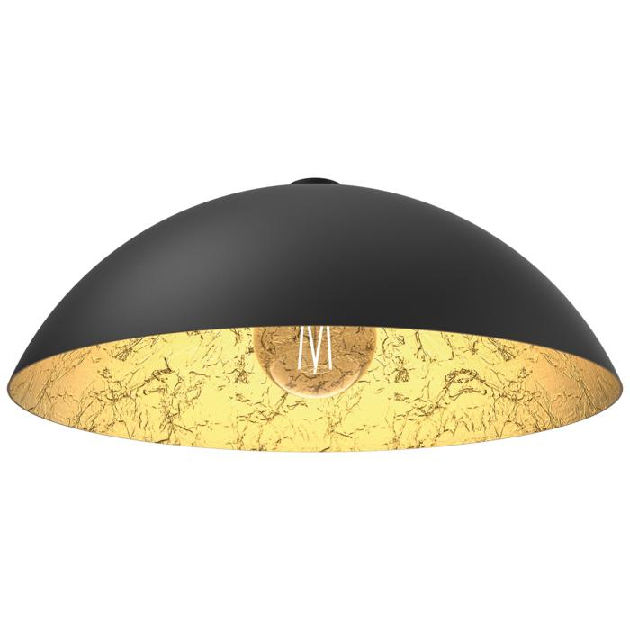 4059/.. - MONA LISA Ø550, built-up ceiling light - black mat outside - papyrus leaf gold inside - with mounting on the ceiling