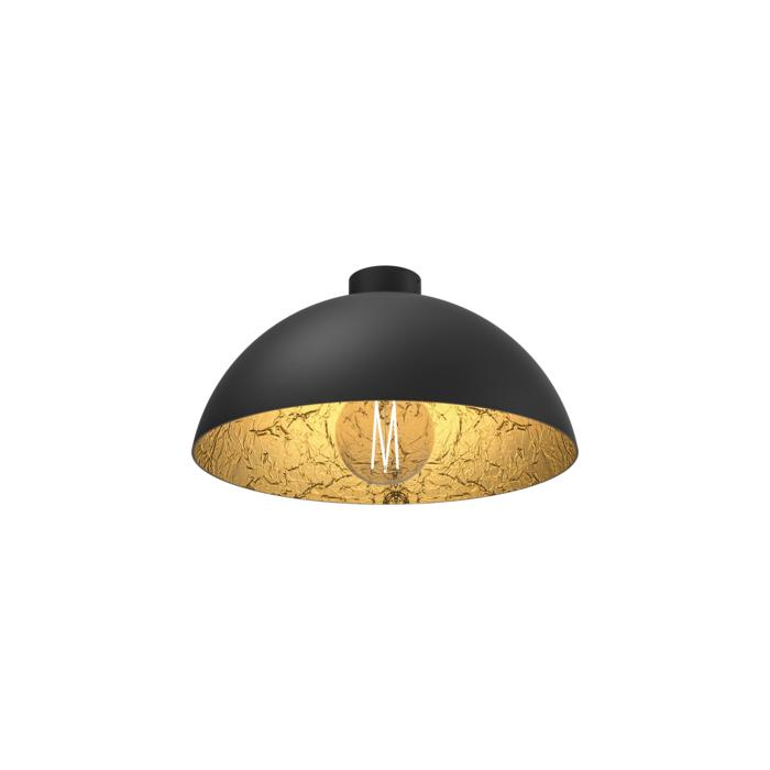 4066/.. - MONA LISA Ø300, ceiling light - black mat outside - papyrus leaf gold inside - with mounting on the ceiling