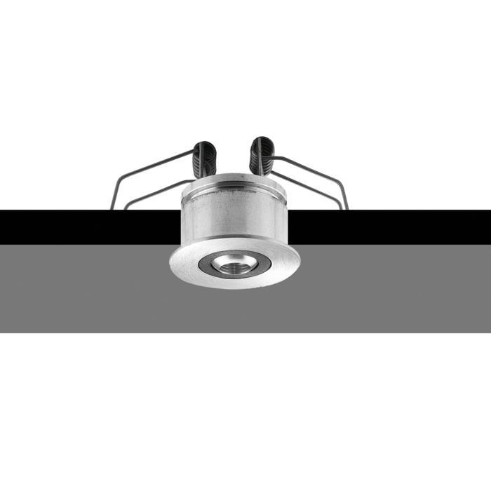 43M10/.. - ZIA BASE Ø39-40, inbouwbasis met bolgewricht - rond - richtbaar - zonder transfo