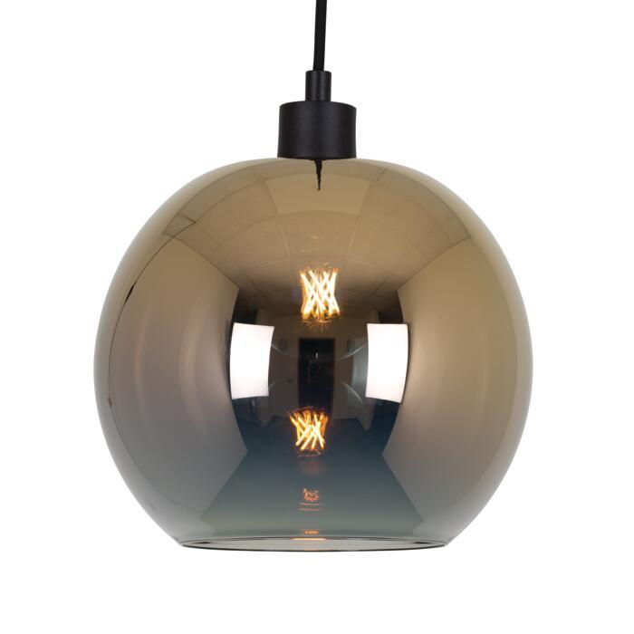 4950.C.E27.SH/.. - Moby Sh Degrade Gold, hanglamp - met 2m textielkabel en trekontlasting aan fitting