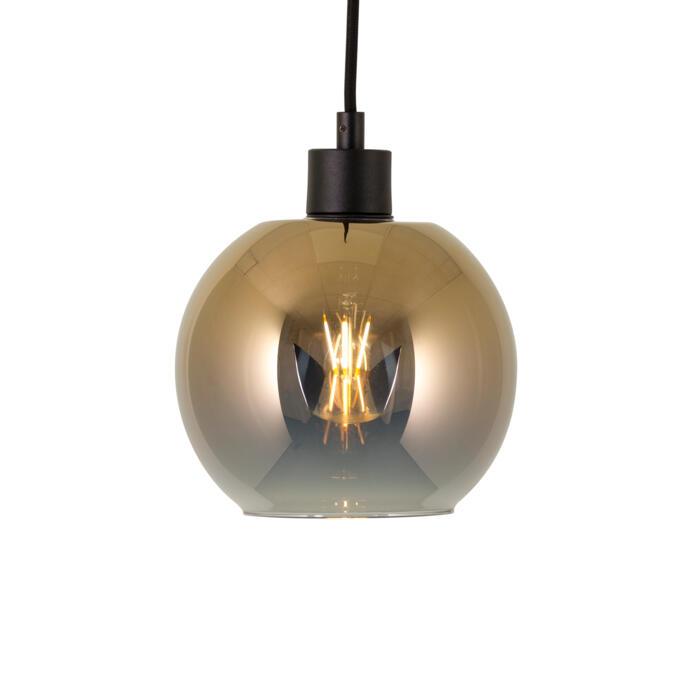4951.B.E27.SH/.. - Moby Sh Degrade Gold, hanglamp - met 2m textielkabel en trekontlasting aan fitting