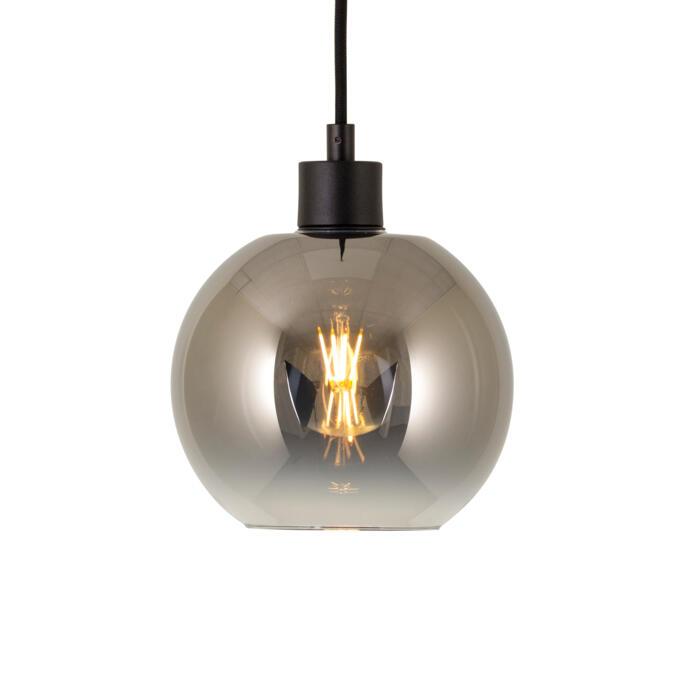 4954.B.E27.SH/.. - Moby Sh Degrade Steel, hanglamp - met 2m textielkabel en trekontlasting aan fitting