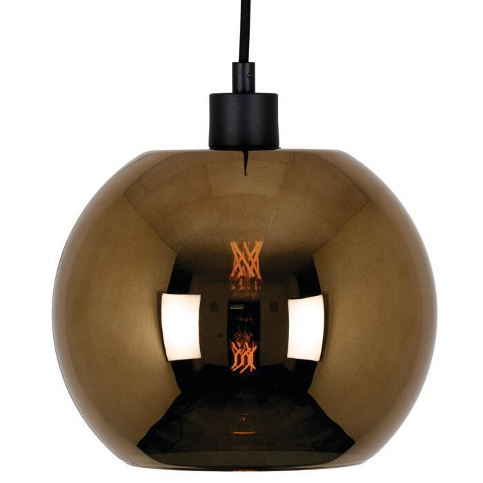 4969.C.E27.SH/.. - Moby Sh Bronz Coated, hanglamp - met 2m textielkabel en trekontlasting aan fitting