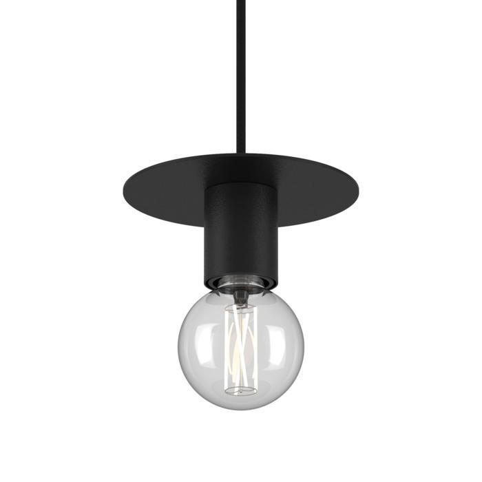 4980.E27/.. - ANGELO, hanglamp - rond - met 1,5m textielkabel en trekontlasting aan fitting