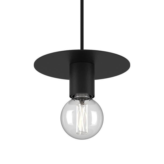 4981.E27/.. - ANGELO, hanglamp - rond - met 1,5m textielkabel en trekontlasting aan fitting