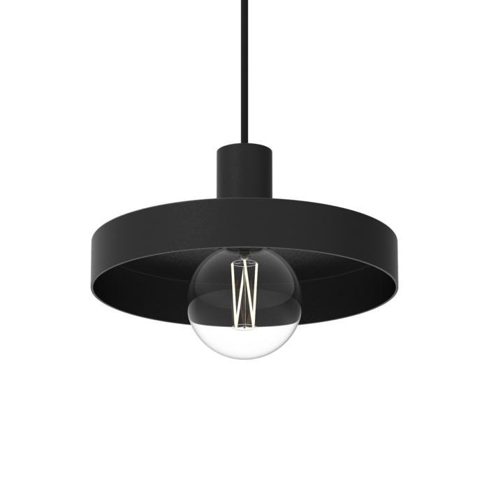 4991.E27/.. - SKIVVE, hanglamp - rond - met 1,5m textielkabel en trekontlasting aan fitting