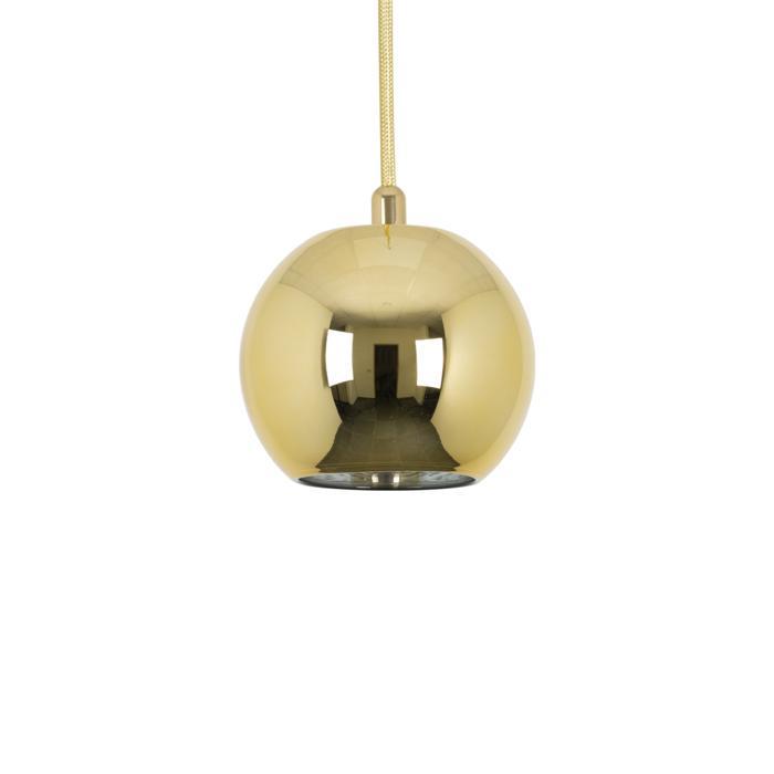 4998.A.E27/.. - MOBY GOLD, hanglamp - met 2m textielkabel en trekontlasting aan fitting