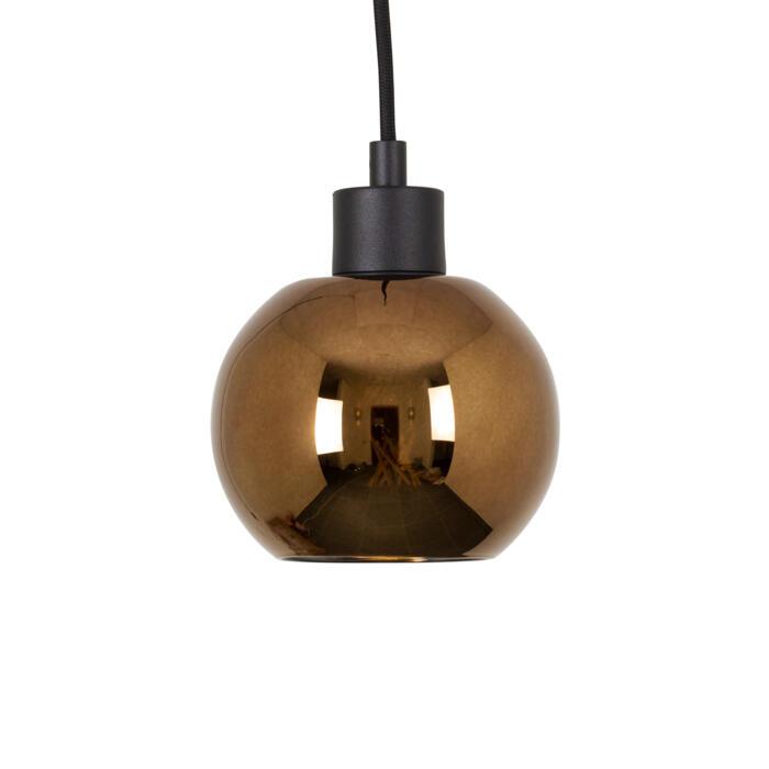 4967.A.E27.SH/.. - Moby Sh Bronz Coated, hanglamp - met 2m textielkabel en trekontlasting aan fitting