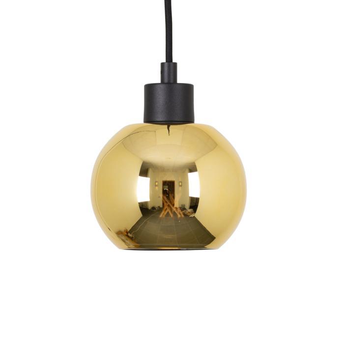 4995.A.E27.SH/.. - MOBY SH GOLD, hanglamp - met 2m textielkabel en trekontlasting aan fitting