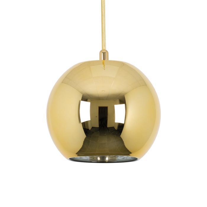 4970.B.E27/.. - MOBY GOLD, hanglamp - met 2m textielkabel en trekontlasting aan fitting