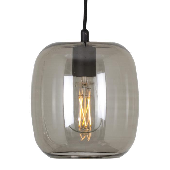 5043.E.E27/.. - MOBY STEEL, hanglamp - met 2m textielkabel en trekontlasting aan fitting