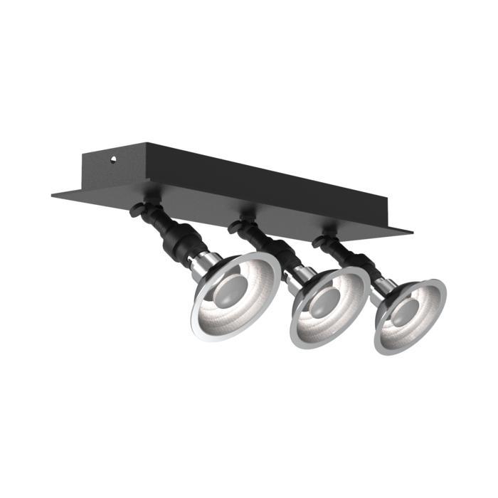 5046/.. - PULA, opbouw plafondverlichting - richtbaar - met 3x spot AR70 op kniegewricht - zonder transfo