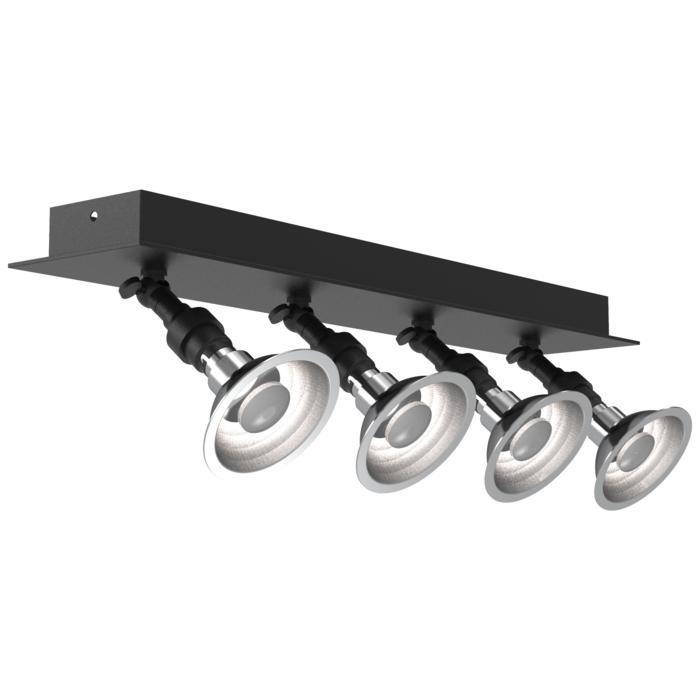 5047/.. - PULA, opbouw plafondverlichting - richtbaar - met 4 x spot AR70 op kniegewricht - zonder transfo
