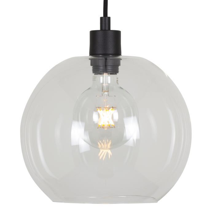 5063.C.E27.SH/.. - MOBY SH TRANSPARANT, hanglamp - met 2m textielkabel en trekontlasting aan fitting
