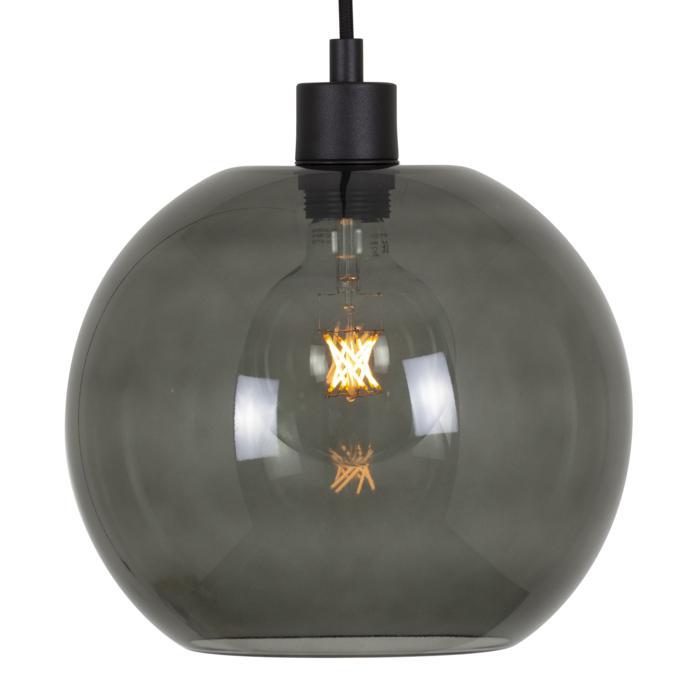 5068.C.E27.SH/.. - MOBY SH SMOKEY GREY, hanglamp - met 2m textielkabel en trekontlasting aan fitting