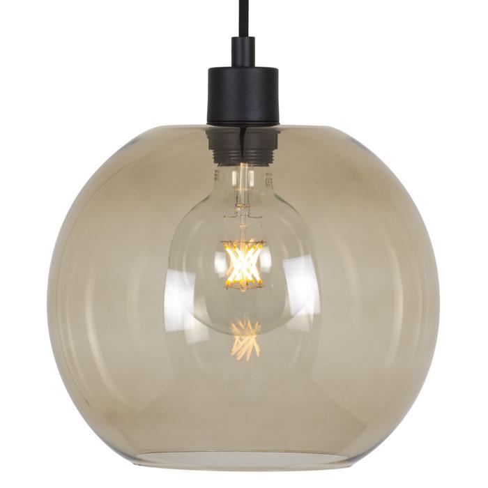 5078.C.E27.SH/.. - MOBY SH BRONZ, hanglamp - met 2m textielkabel en trekontlasting aan fitting