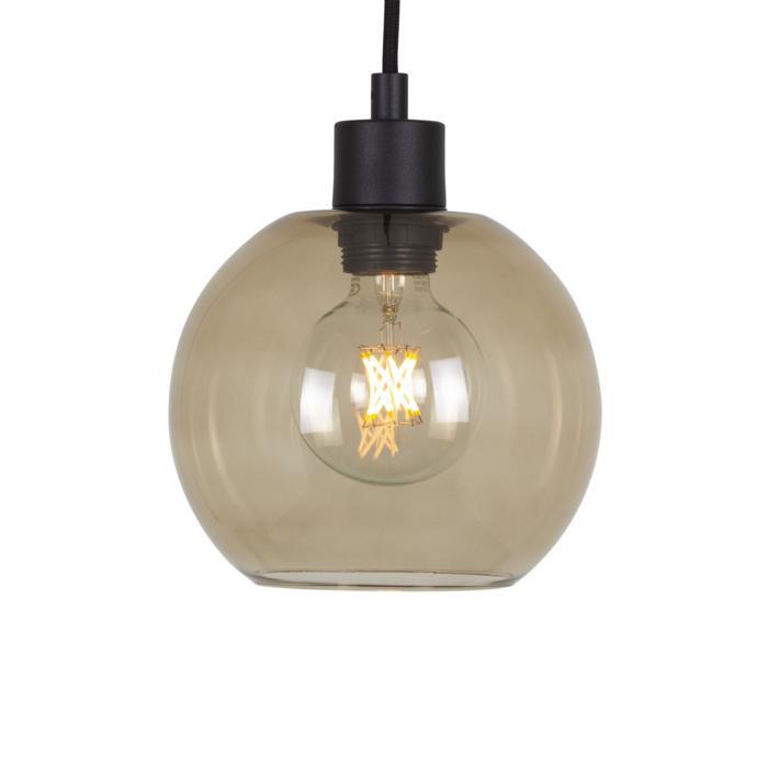 5079.B.E27.SH/.. - MOBY SH BRONZ, hanglamp - met 2m textielkabel en trekontlasting aan fitting