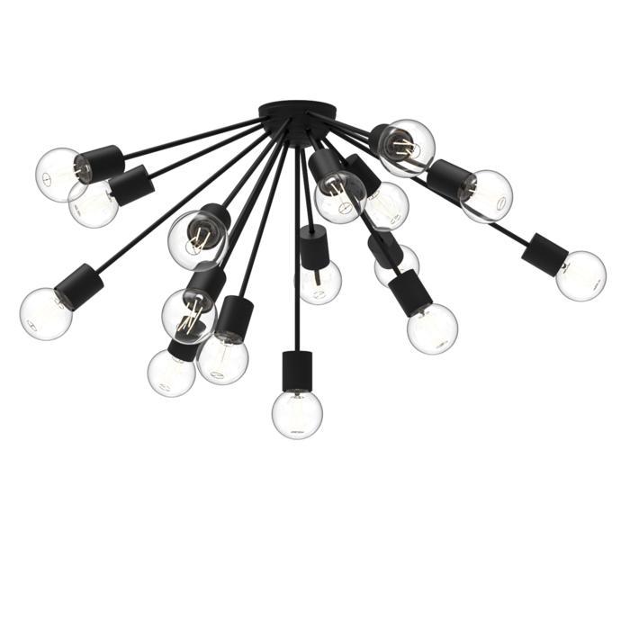 5081.16/.. - GALAXY, opbouw plafondverlichting - vast - halve bol