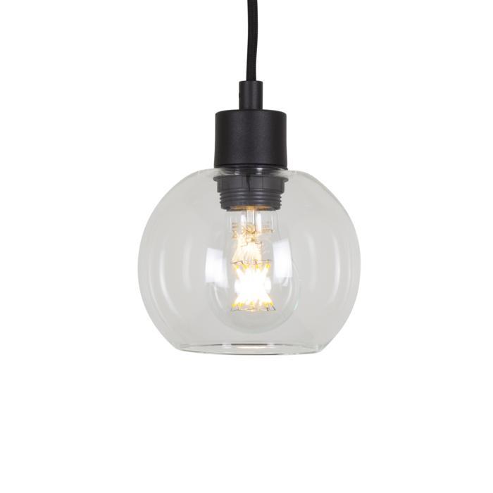 5082.A.E27.SH/.. - MOBY SH TRANSPARANT, hanglamp - met 2m textielkabel en trekontlasting aan fitting