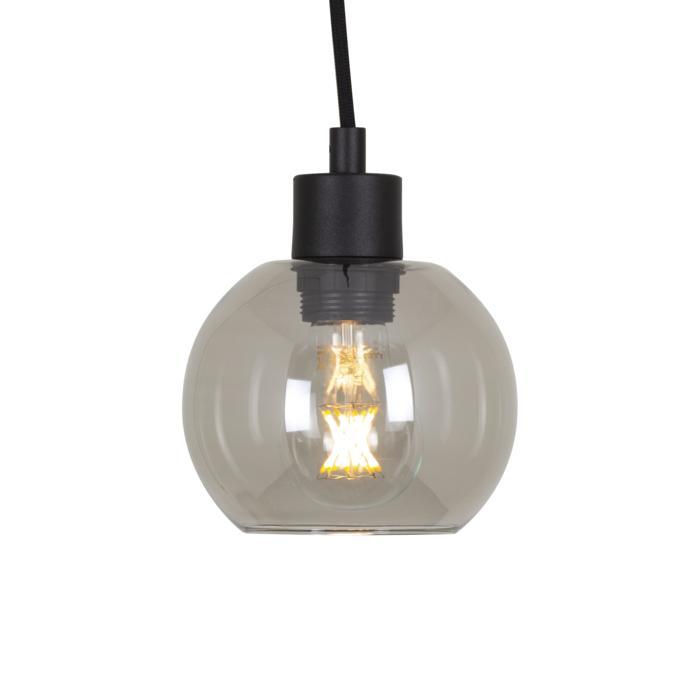 4976.A.E27.SH/.. - Moby Sh Steel, hanglamp - met 2m textielkabel en trekontlasting aan fitting