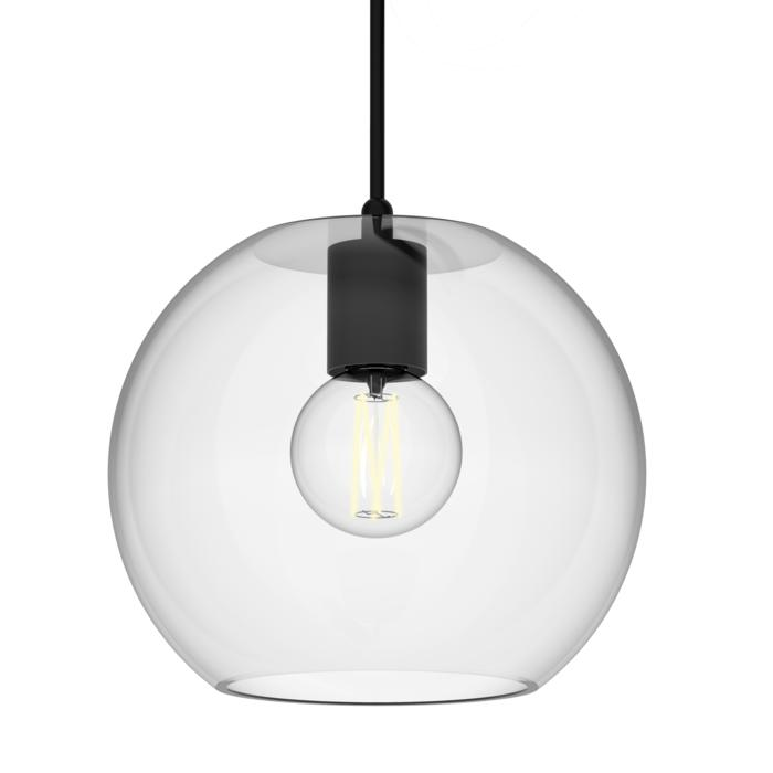 5087/.. - MOBY TRANSPARANT, hanglamp - met 2m textielkabel en trekontlasting aan fitting