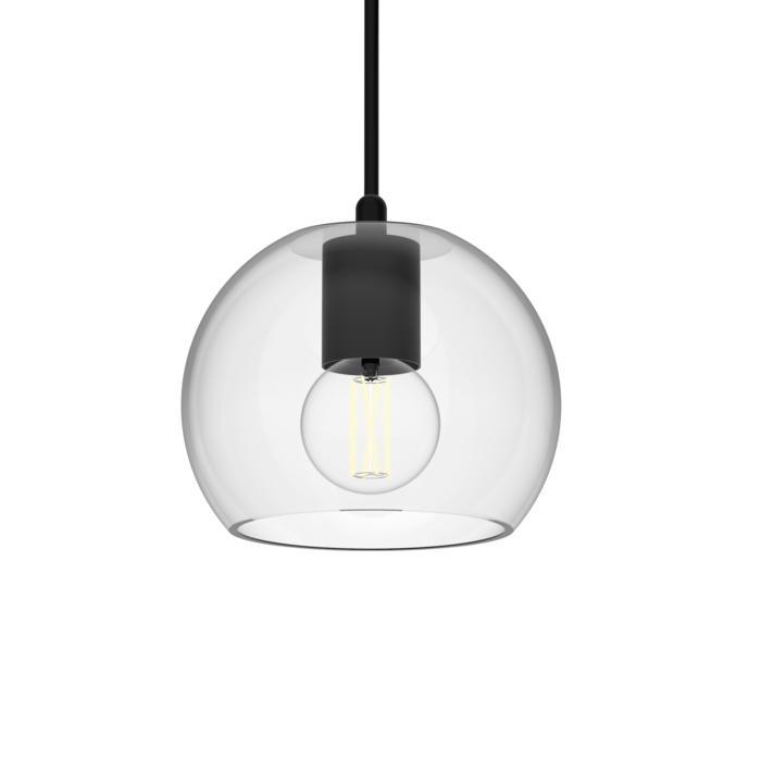 5088.B.E27/.. - MOBY TRANSPARANT, hanglamp - met 2m textielkabel en trekontlasting aan fitting