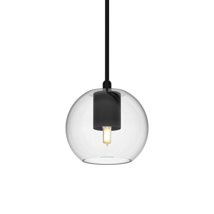 5089.A.G9/.. - MOBY TRANSPARANT, hanglamp - met 2m textielkabel en trekontlasting aan fitting