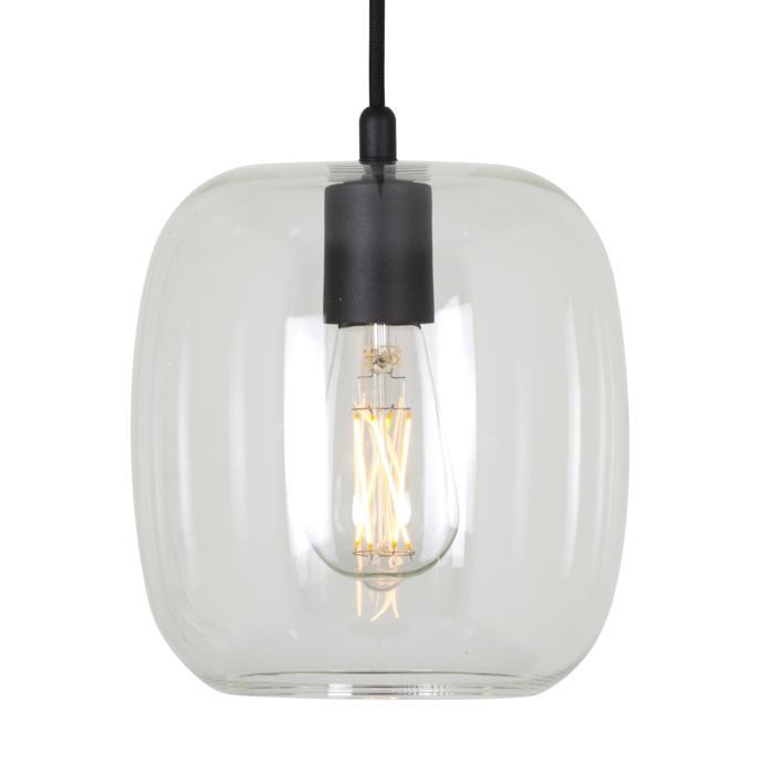 5097.E27/.. - MOBY TRANPARANT, hanglamp - met 2m textielkabel en trekontlasting aan fitting